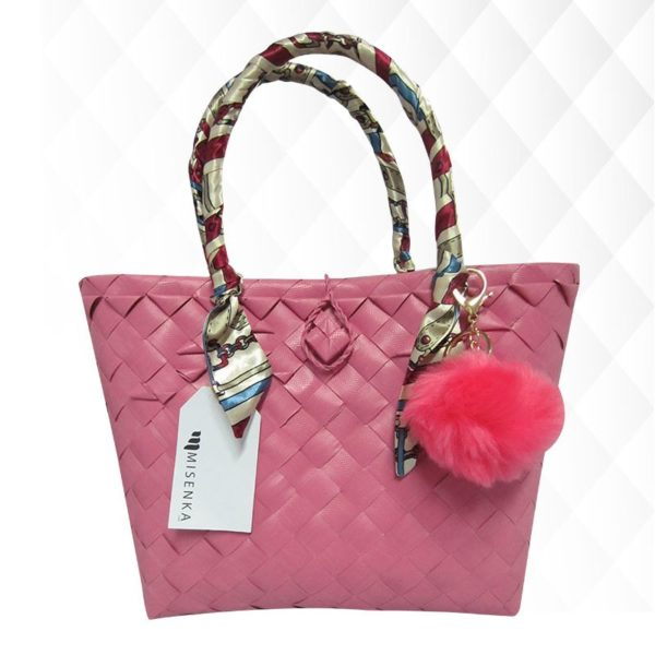 Misenka Hot Pink Fur Charm