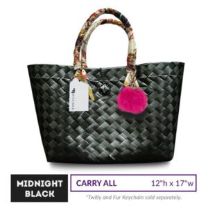 Misenka Midnight Black Carry All