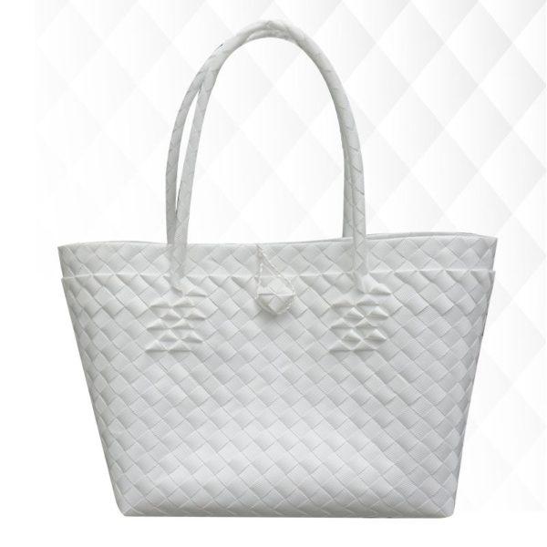 Misenka Pearl White Carry All