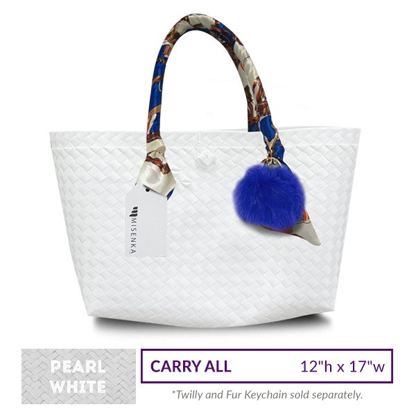 Misenka Pearl White Carry All