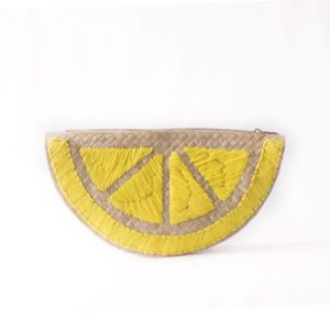 Misenka Lemon Slice Clutch