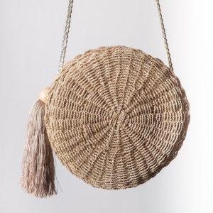 Misenka Ecija Tassel Round Bag