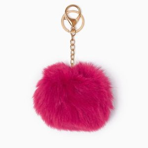 Misenka Hot Pink Fur Charm
