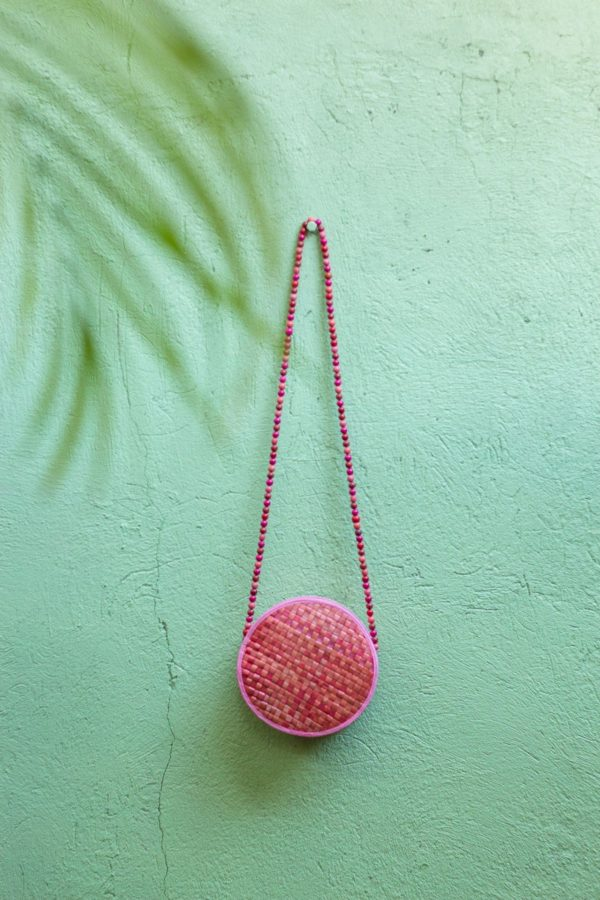 Misenka Pink Summer Bilog Bag