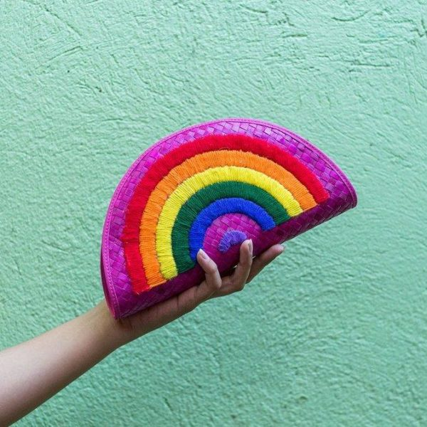 Misenka Half Rainbow Clutch