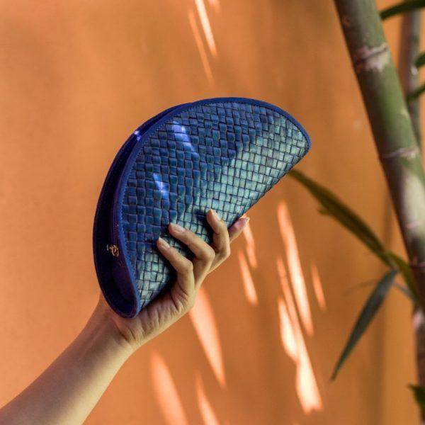 Misenka Blue Summer Moon Clutch