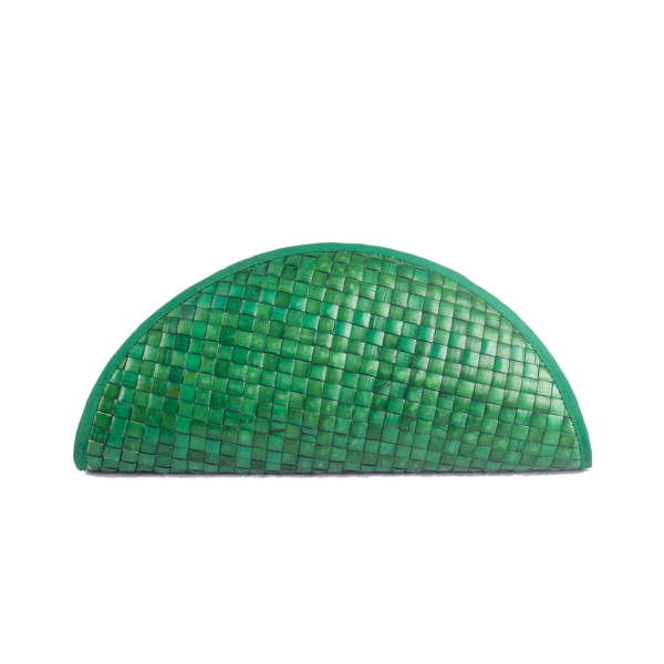 Misenka Green Summer Moon Clutch