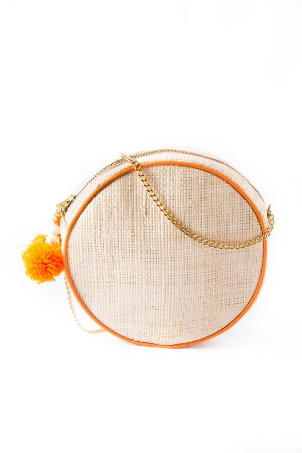 Misenka Orange Shoulder Bag