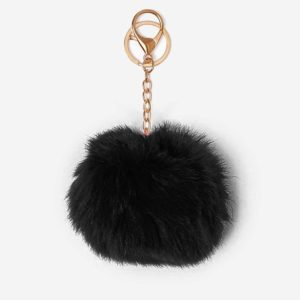 Misenka Midnight Black Fur Charm