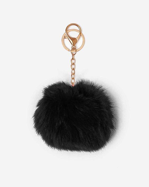 Misenka Midnight Black Fur Charm