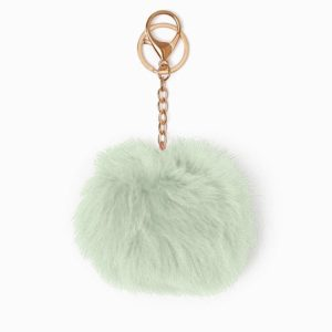 Misenka Mint Green Fur Charm