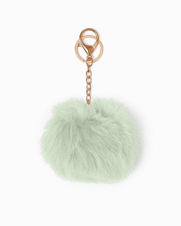 Misenka Mint Green Fur Charm