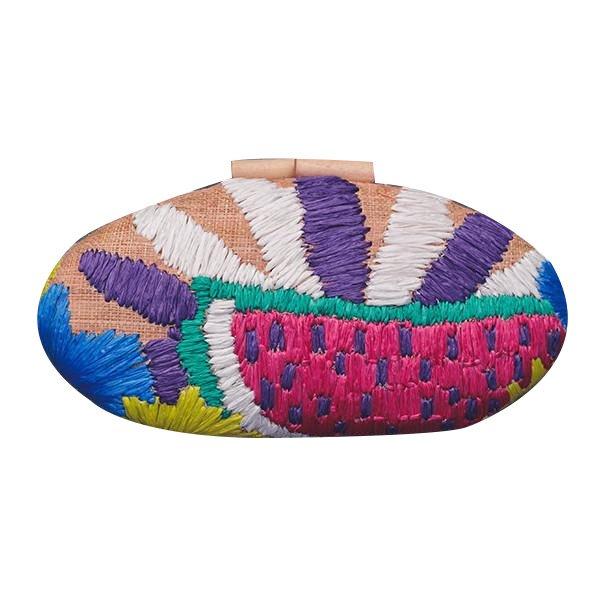 Misenka Embroidered Hard Clutch: Ilocos