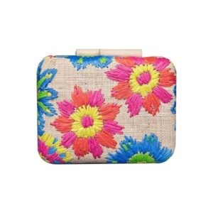 Misenka Embroidered Hard Clutch: Negros