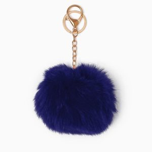 Misenka Navy Blue Fur Charm