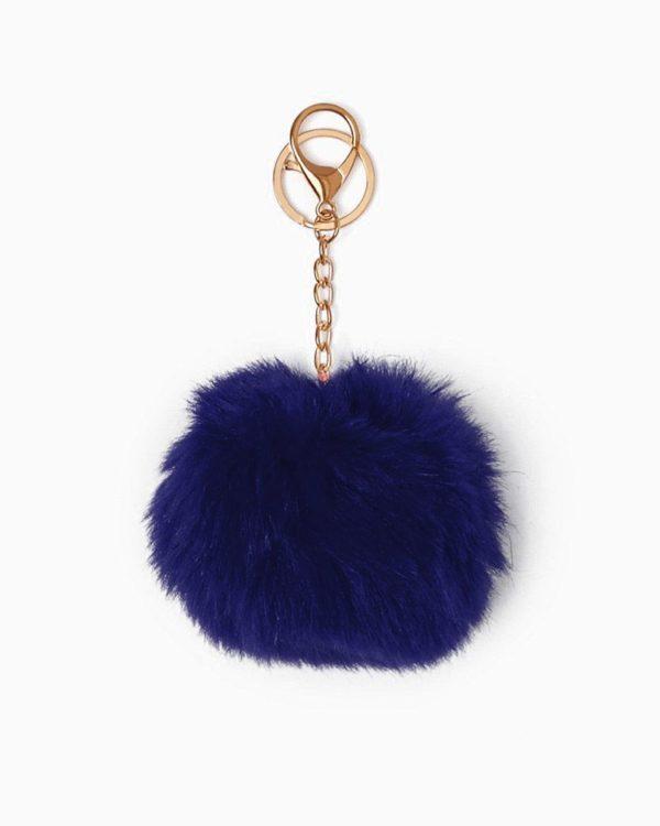 Misenka Navy Blue Fur Charm