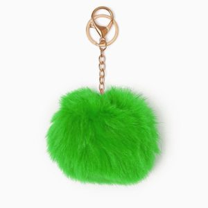Misenka Neon Green Fur Charm