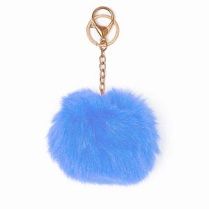 Misenka Powder Blue Fur Charm