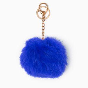 Misenka Royal Blue Fur Charm