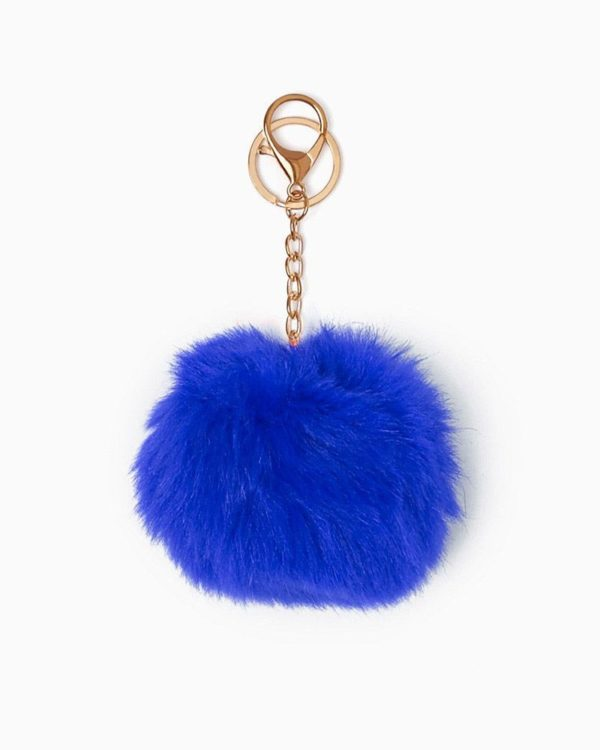 Misenka Royal Blue Fur Charm