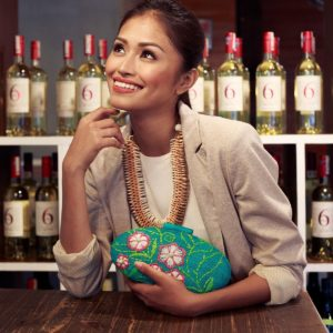 Misenka Embroidered Hard Clutch: Bataan
