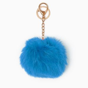 Misenka Sky Blue Fur Charm