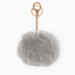 Misenka Slate Grey Fur Charm