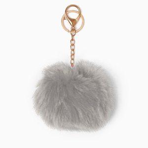 Misenka Slate Grey Fur Charm