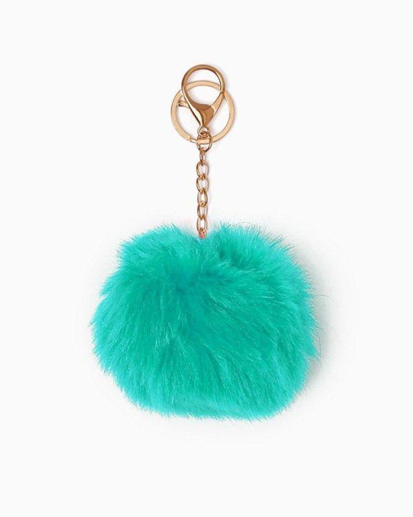 Misenka Turquoise Fur Charm